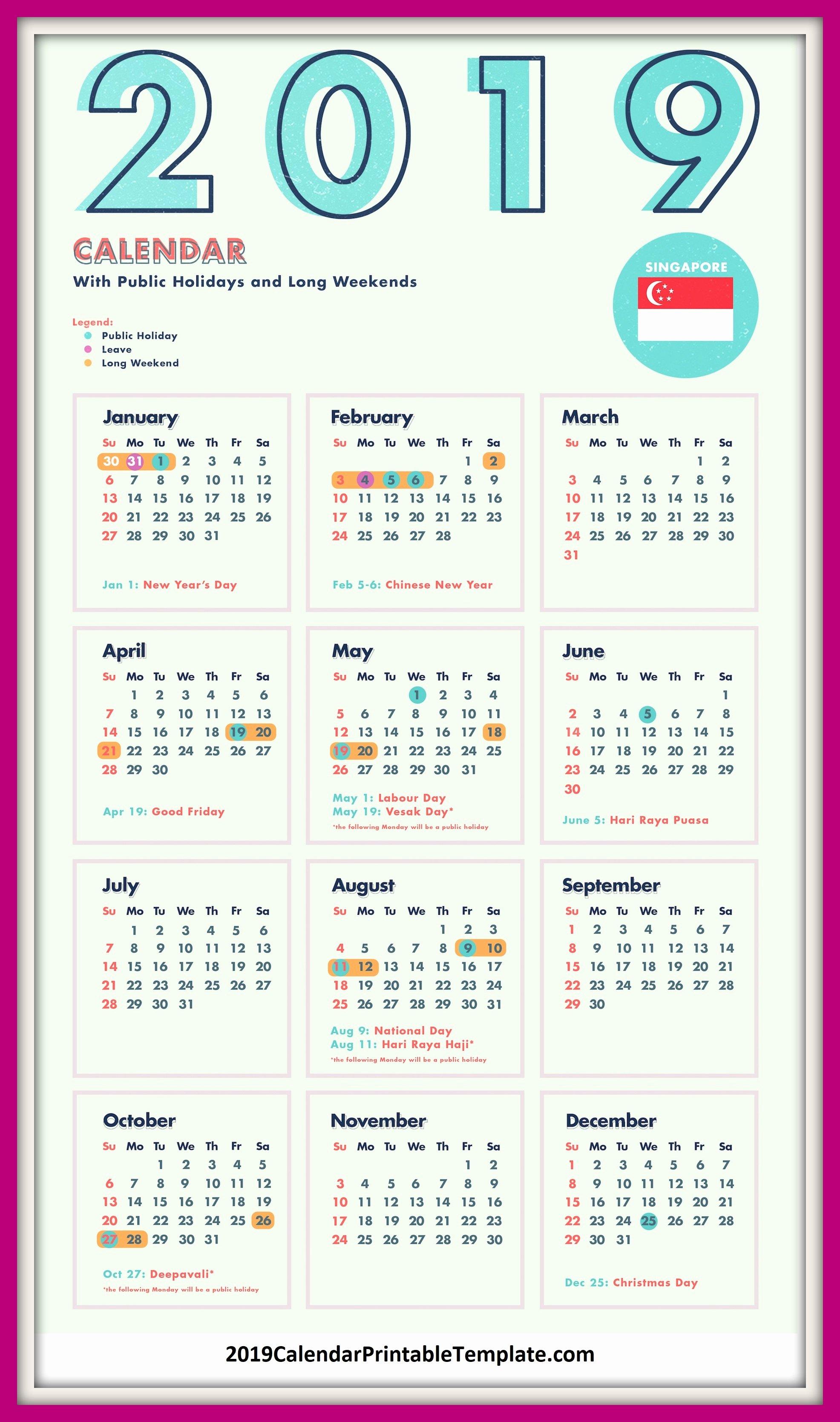 Golf Practice Schedule Template Awesome 2019 Calendar Singapore 2019 Calendar Printable Template