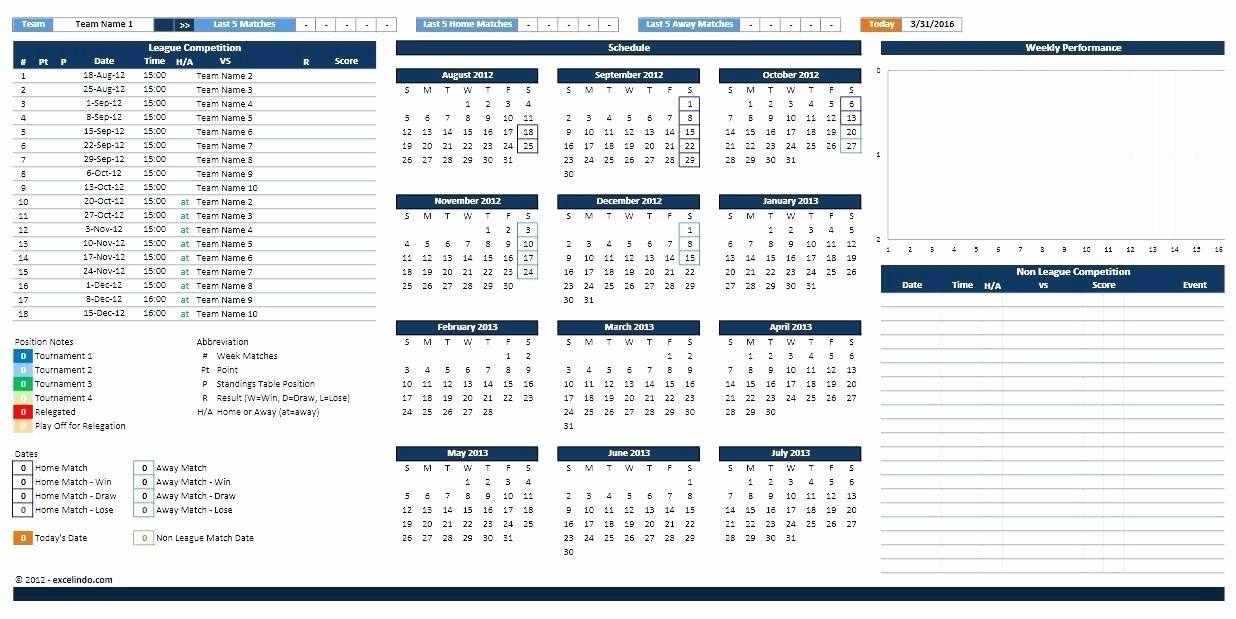 Golf Practice Schedule Template Fresh Little League Game Schedule Template Golf software Easy O