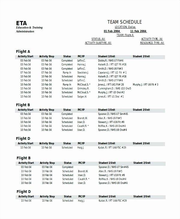 Golf Practice Schedule Template Fresh Team Schedule Template 10 Game – Template Gbooks
