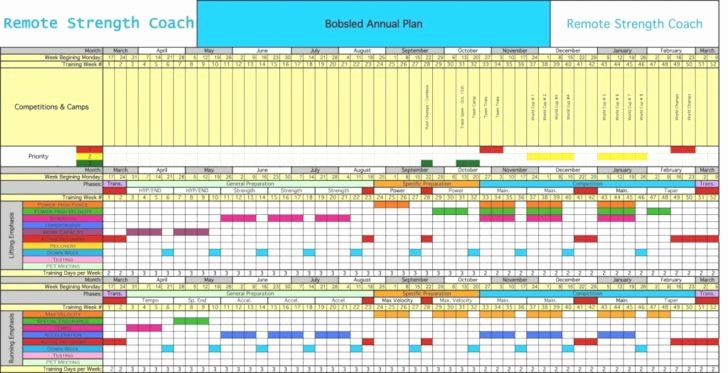 Golf Practice Schedule Template Fresh Training Calendar Sample