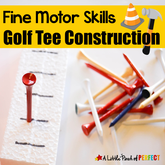 Golf Tee Game Template Inspirational Fine Motor Skills Golf Tee Construction Activity