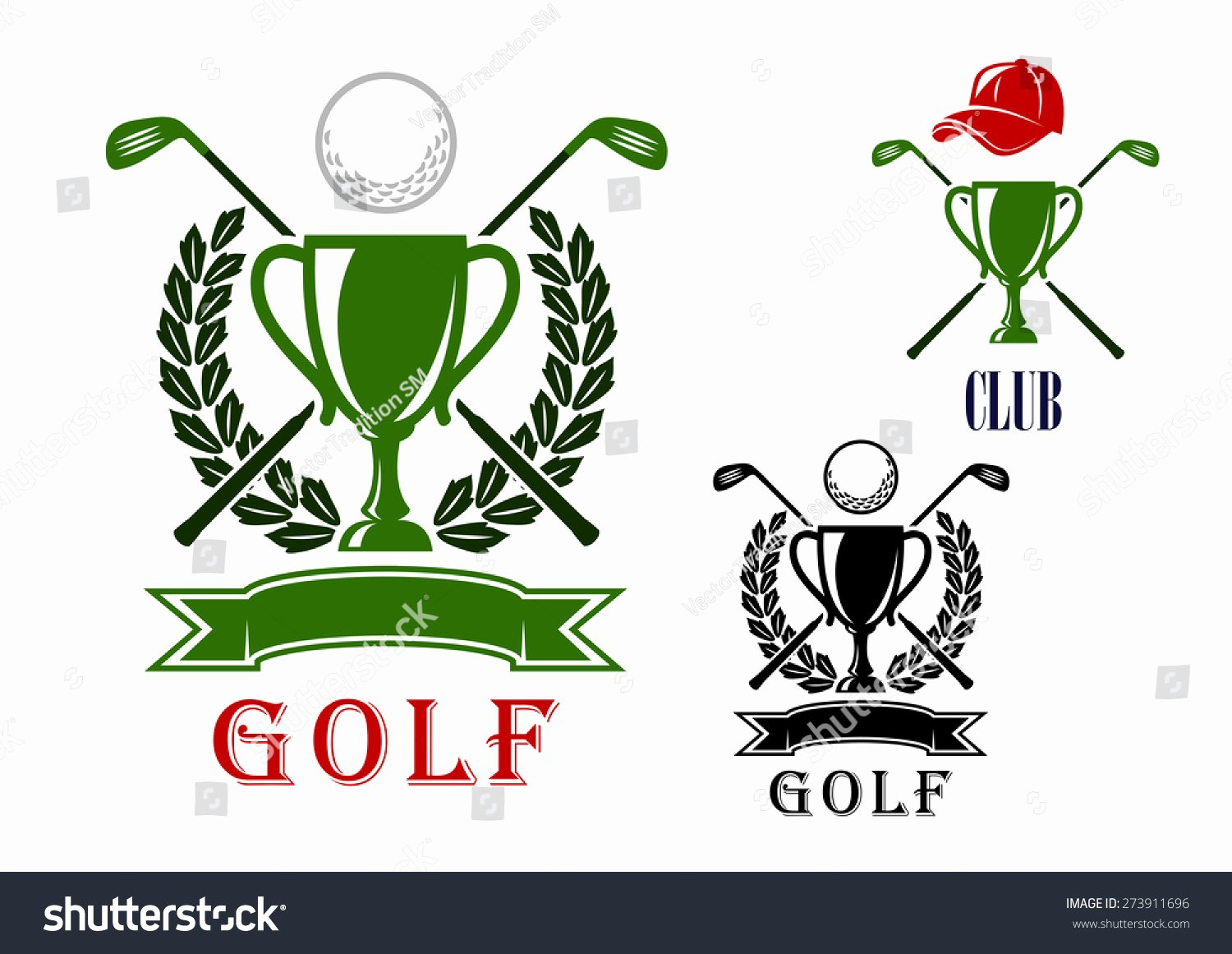 Golf Tee Game Template Lovely Golf Club tournament Emblem Badges Design Stock Vector