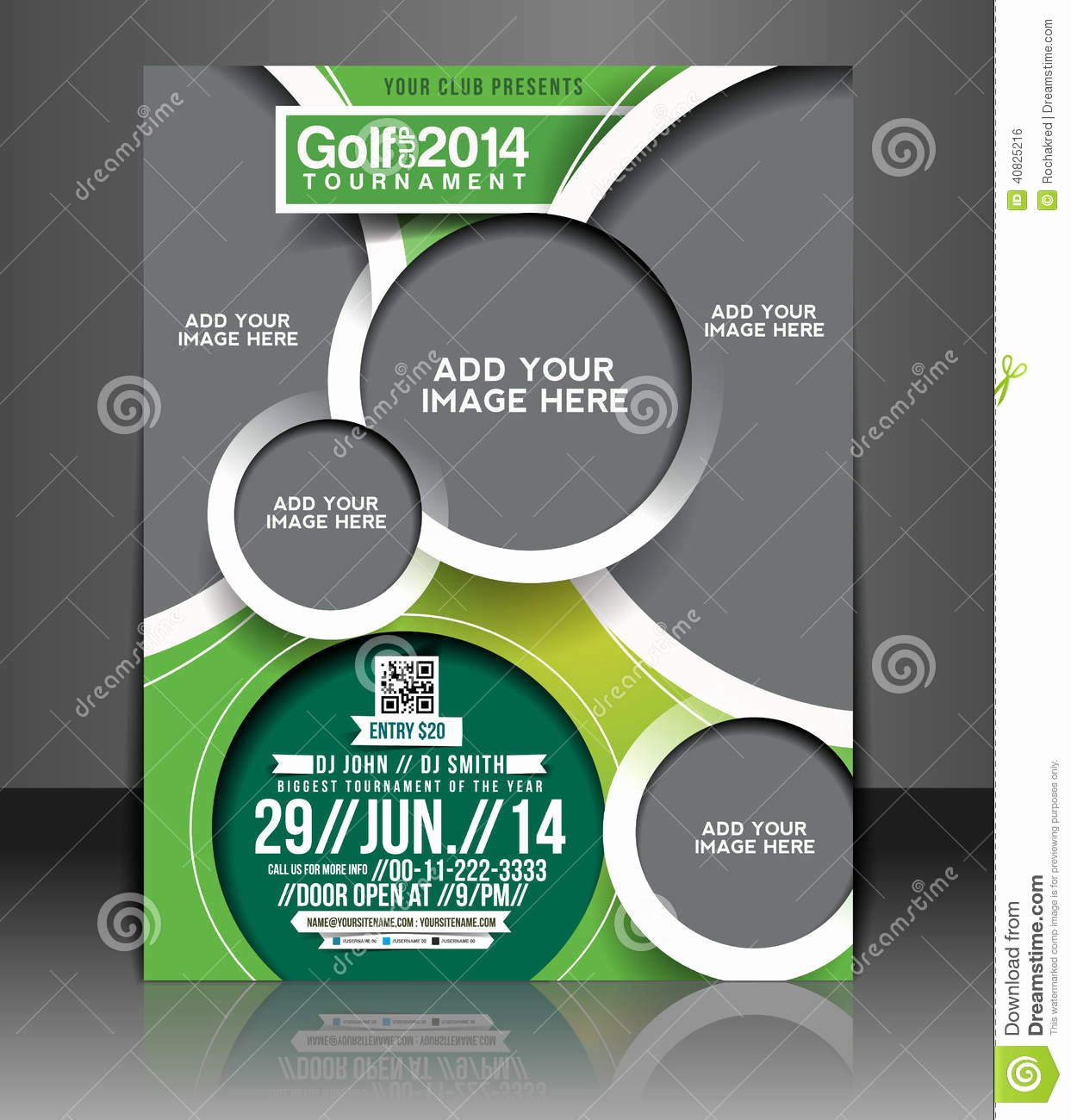 Golf Tee Game Template Lovely Golf tournament Flyer Design Stock Vector Image