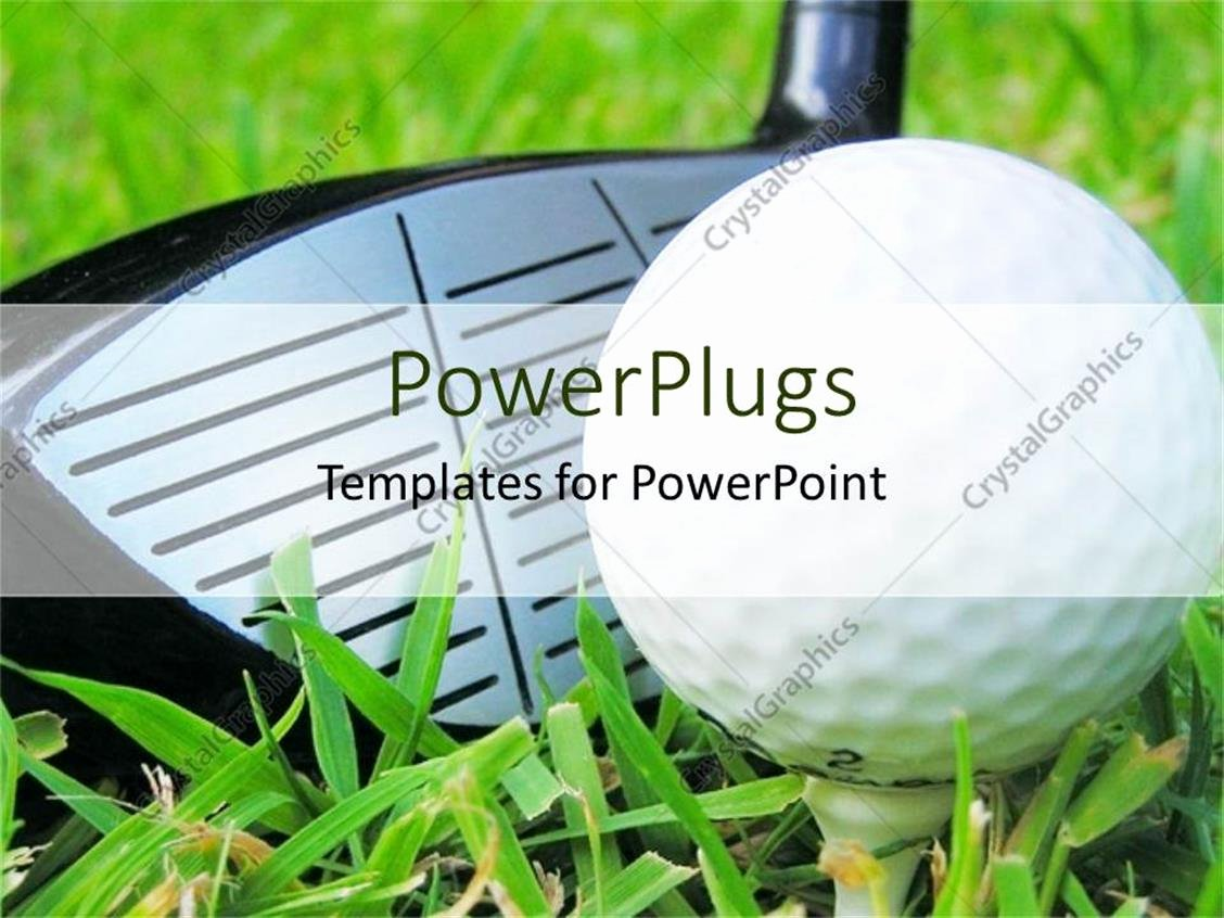 Golf Tee Game Template Luxury Powerpoint Template Close Up Golf Club and Tee