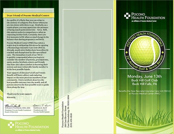 Golf tournament Brochure Template Awesome 21 Golf tournament Brochures