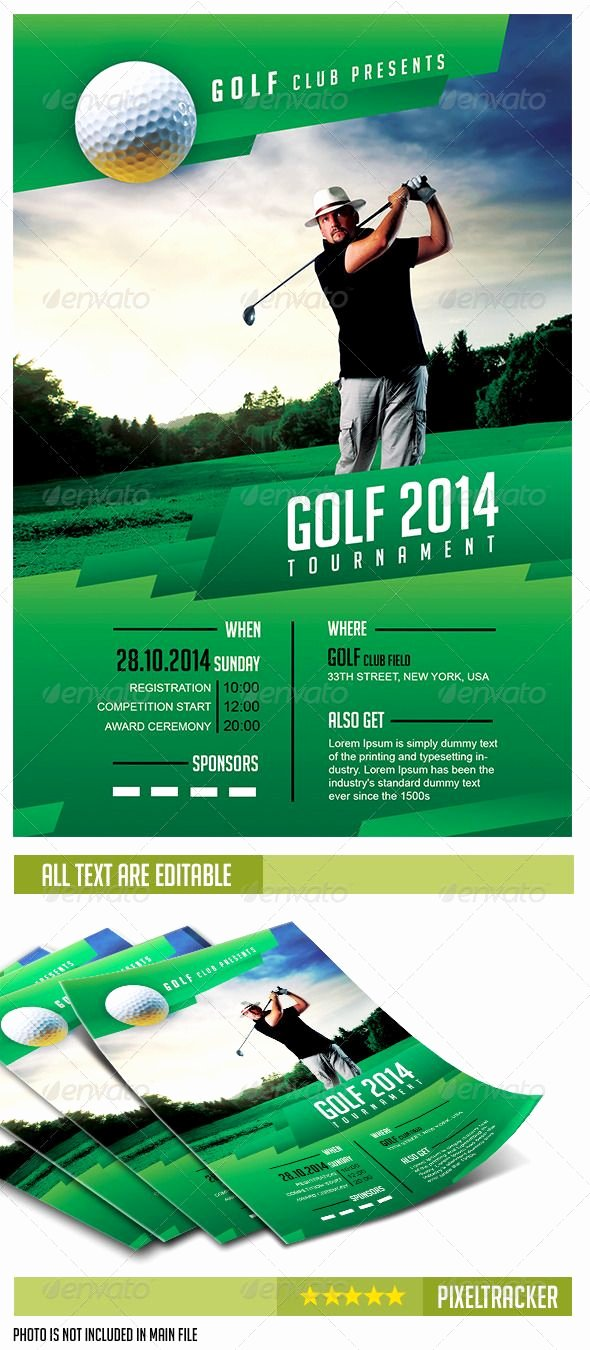 Golf tournament Brochure Template Awesome Golf Scramble Flyer Template Yourweek D2c345eca25e