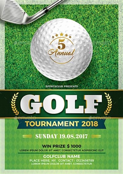 Golf tournament Brochure Template Awesome Showcase Of the Best Sports Flyer Templates for Shop