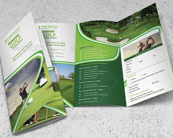 Golf tournament Brochure Template Best Of Golf Brochure Template Free Golf Brochure Template 10