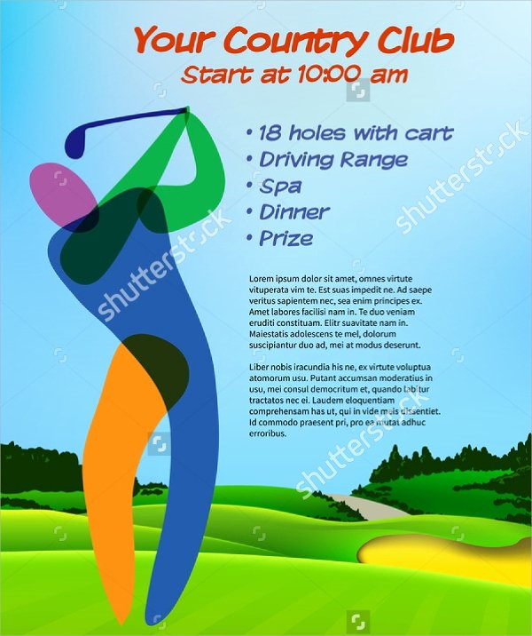 Golf tournament Brochure Template Elegant 21 Golf tournament Brochures
