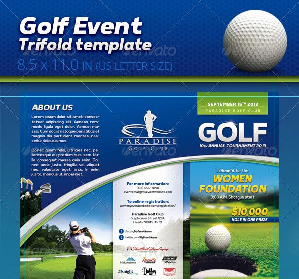 Golf tournament Brochure Template Elegant 30 Best Brochure Templates 2013