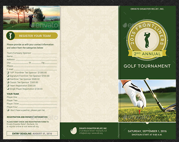 Golf tournament Brochure Template Inspirational 10 Popular Free and Premium Golf Brochure Templates