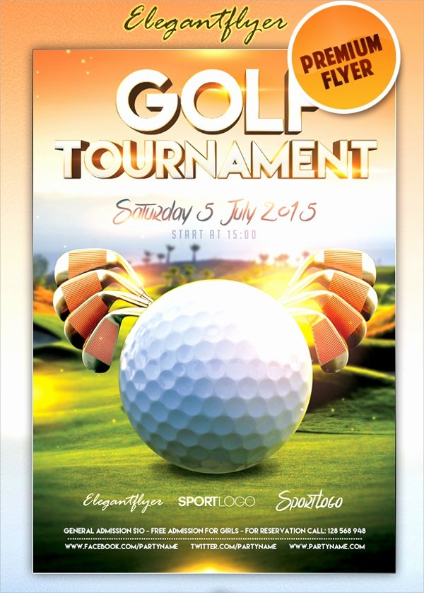 Golf tournament Brochure Template Lovely 21 Golf tournament Flyer Templates