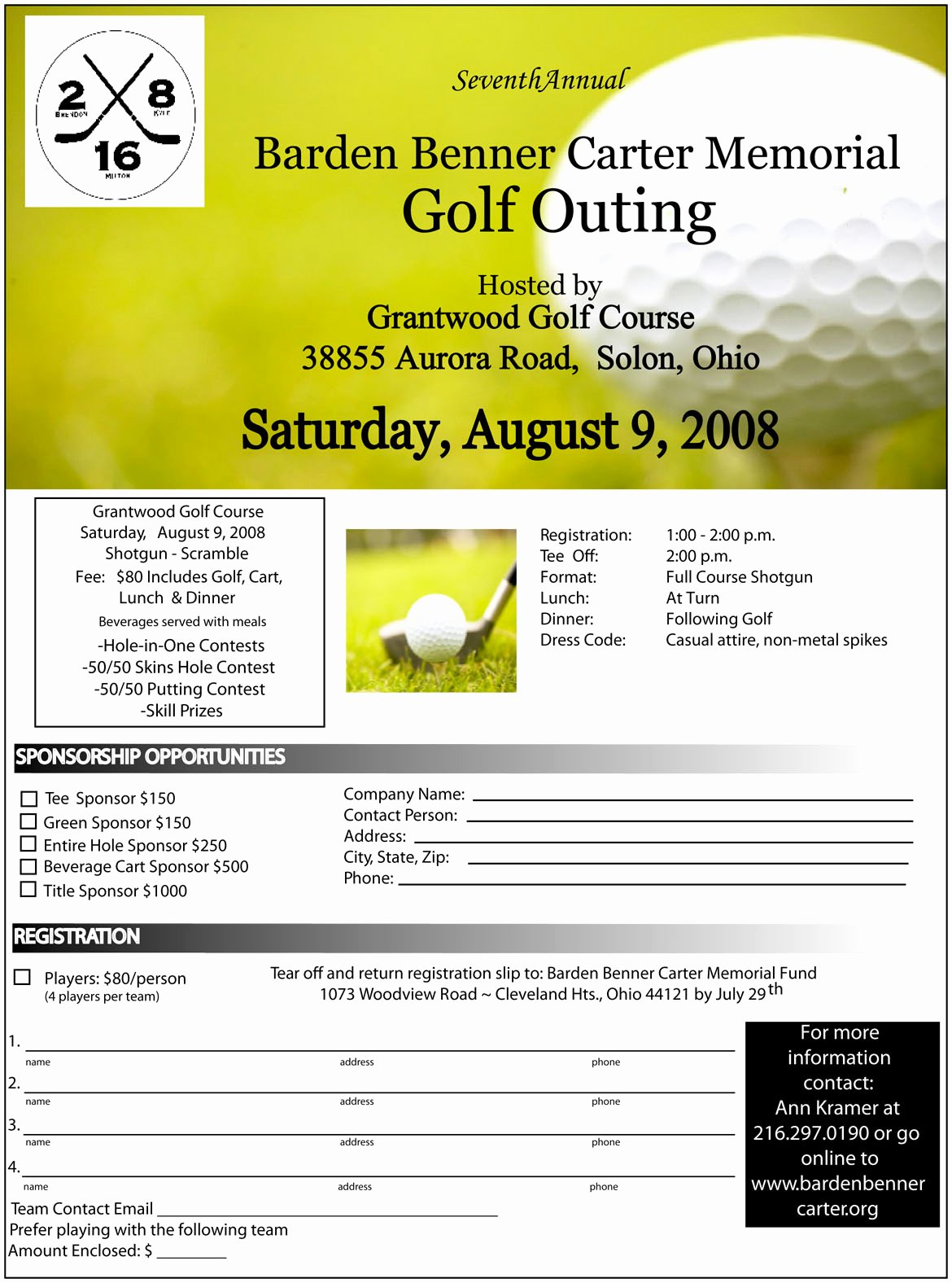 Golf tournament Brochure Template Lovely Golf Scramble Flyer Template Yourweek D2c345eca25e
