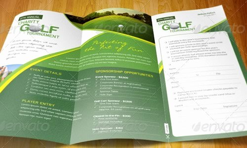 Golf tournament Brochure Template New 35 Premium Brochure Design Template