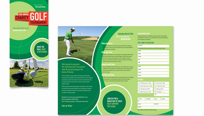 Golf tournament Brochure Template Unique 5 Free Golf tournament Flyer Templates