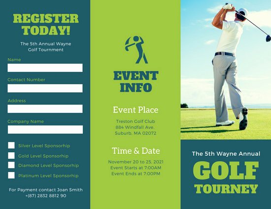 Golf tournament Brochure Template Unique Brochure Templates Canva