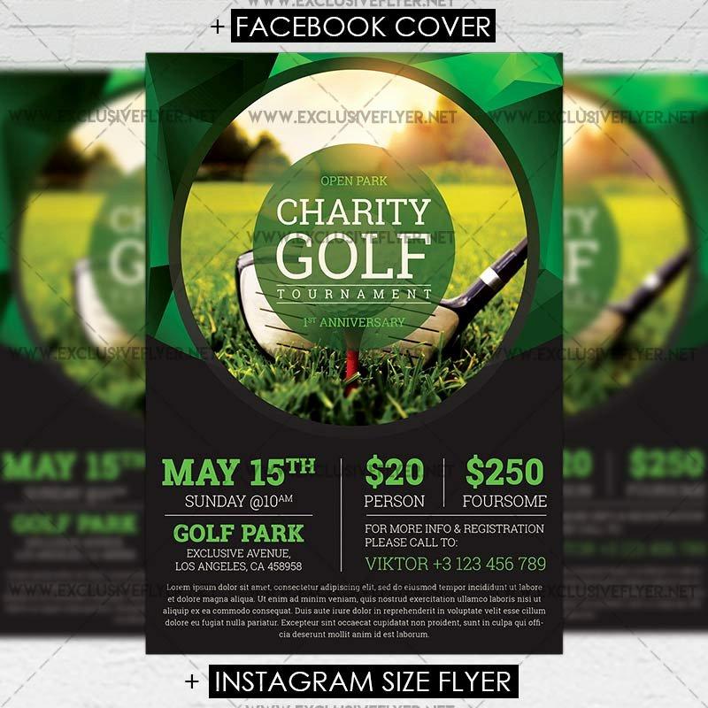 Golf tournament Flyer Template Beautiful Golf tournament – Premium A5 Flyer Template