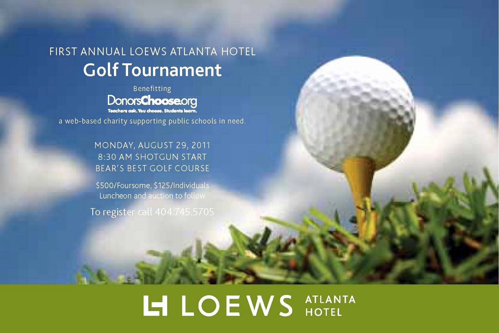 Golf tournament Flyer Template Best Of Everything Midtown atlanta Join Loews atlanta Hotel for