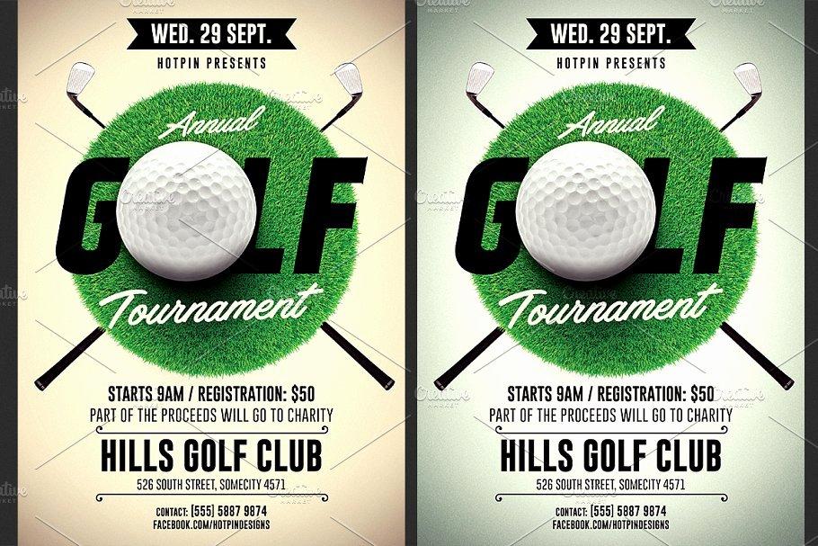 Golf tournament Flyer Template Best Of Golf tournament Flyer Template Flyer Templates