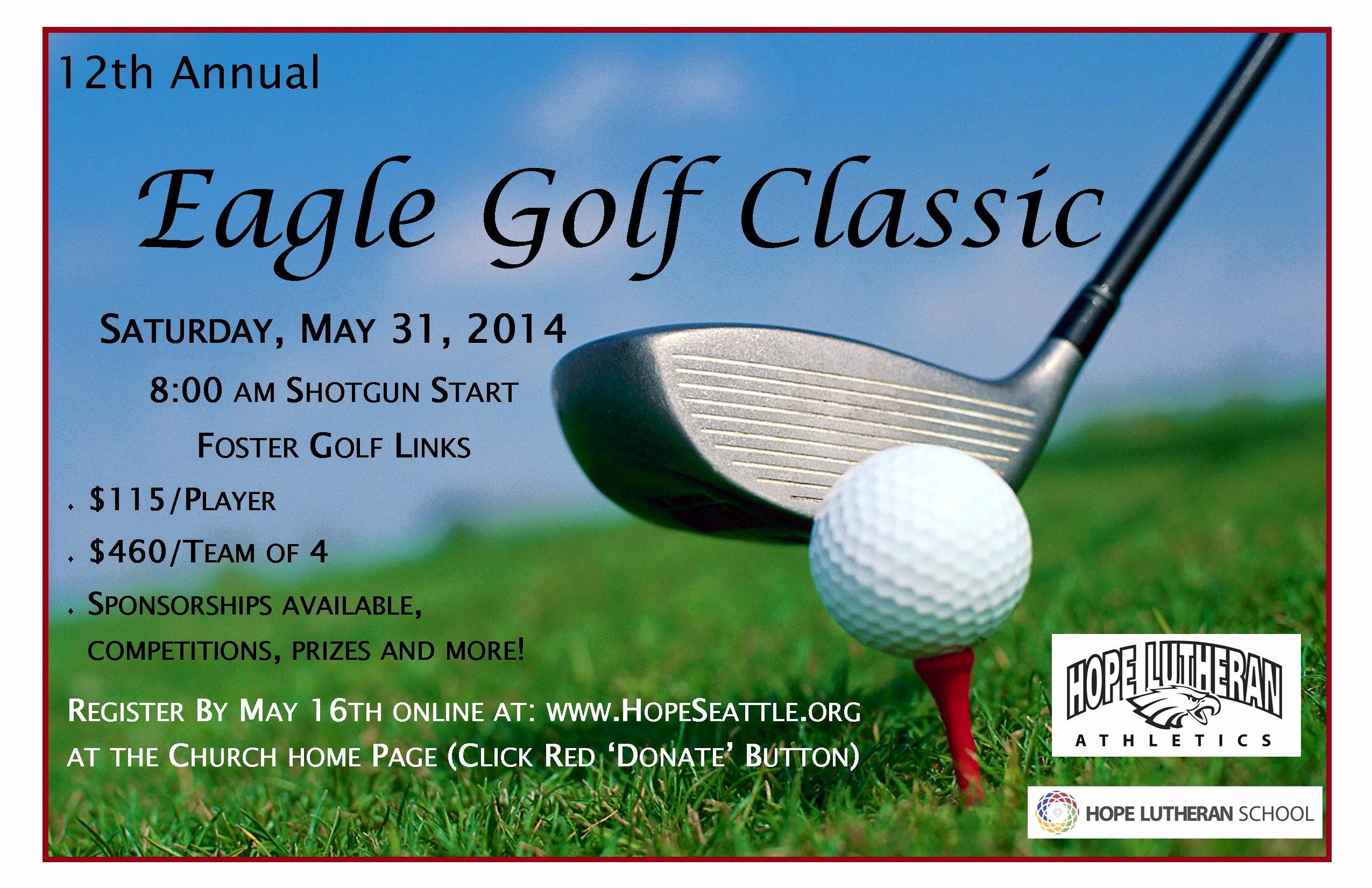 Golf tournament Flyer Template Lovely Golf tournament
