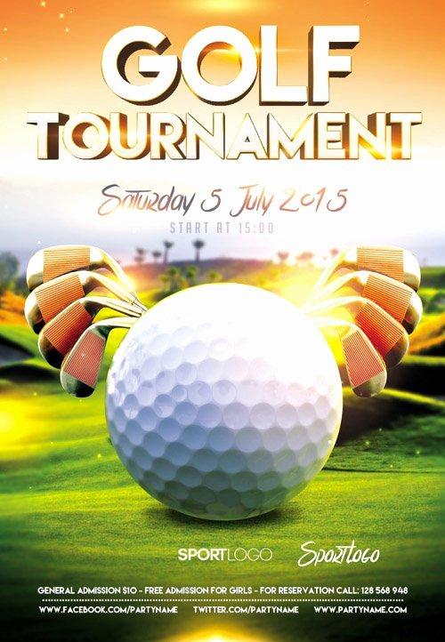 Golf tournament Flyer Template Luxury Flyer Psd Template – Golf tournament event Cover