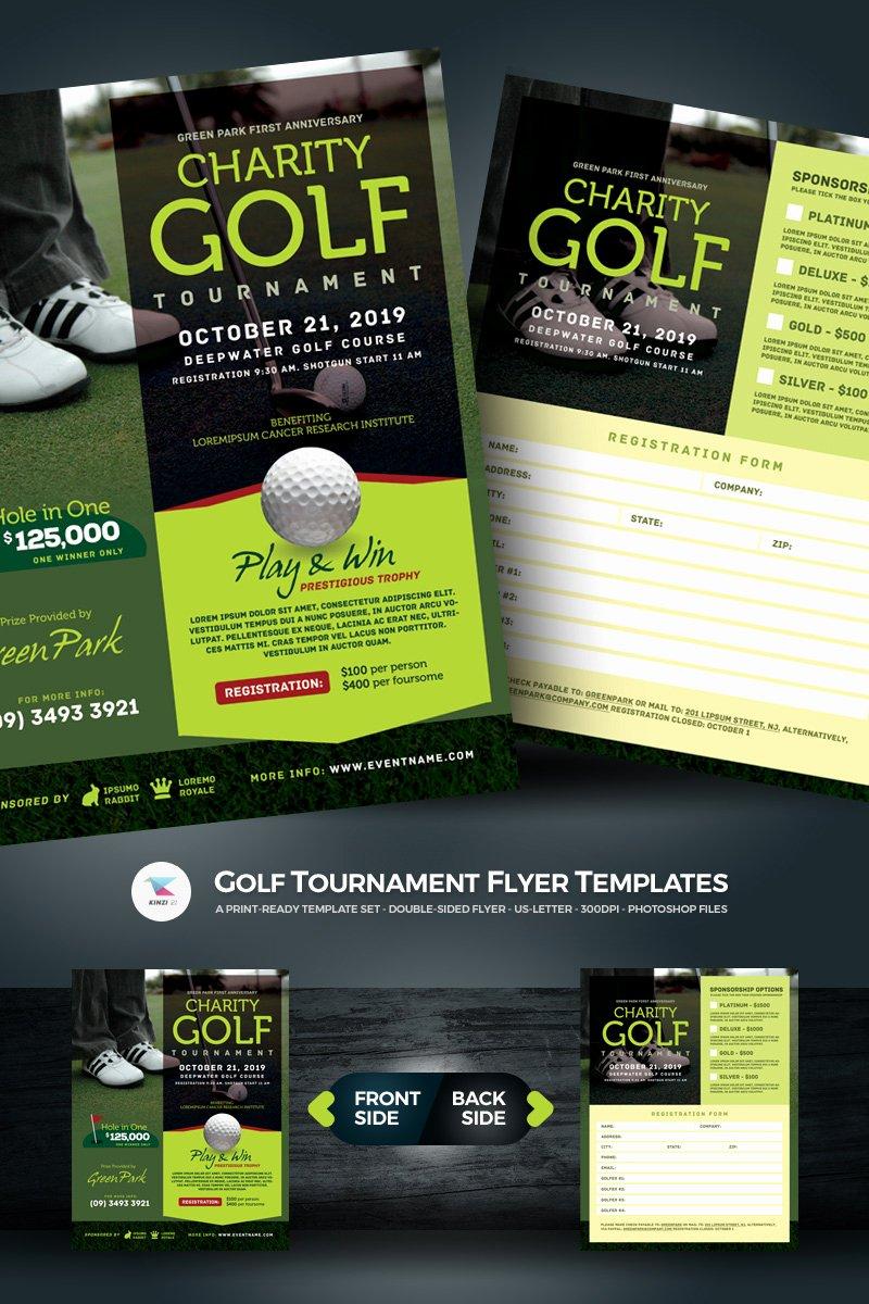 Golf tournament Flyer Template Luxury Golf tournament Flyer Psd Template