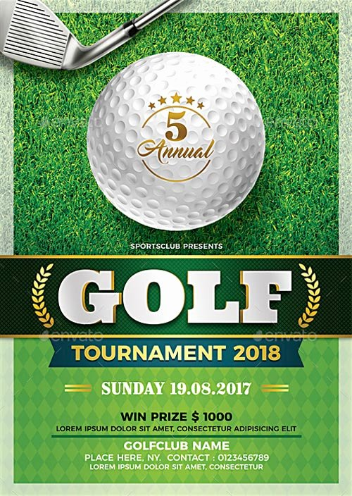 Golf tournament Flyer Template New 22 Golf Flyer Templates Free Psd Ai Eps format Download