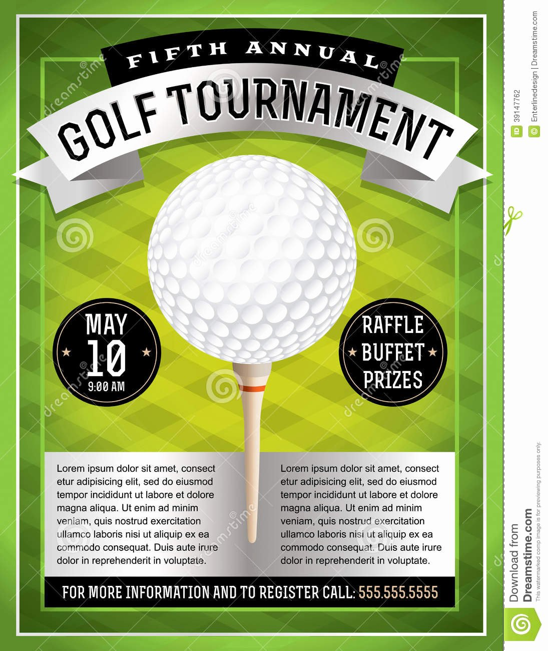 Golf tournament Flyer Template New Golf tournament Flyer Stock Vector Illustration Of