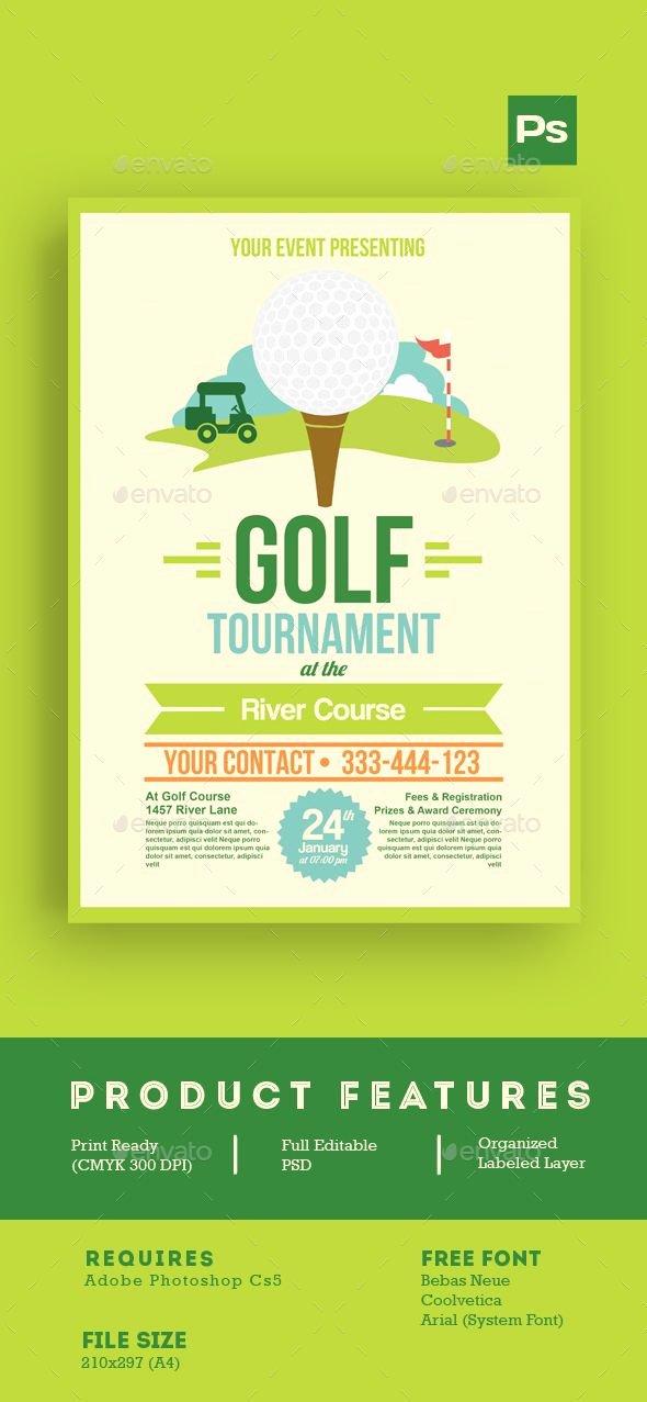 Golf tournament Flyer Template New Golf tournament Flyer Tamplate