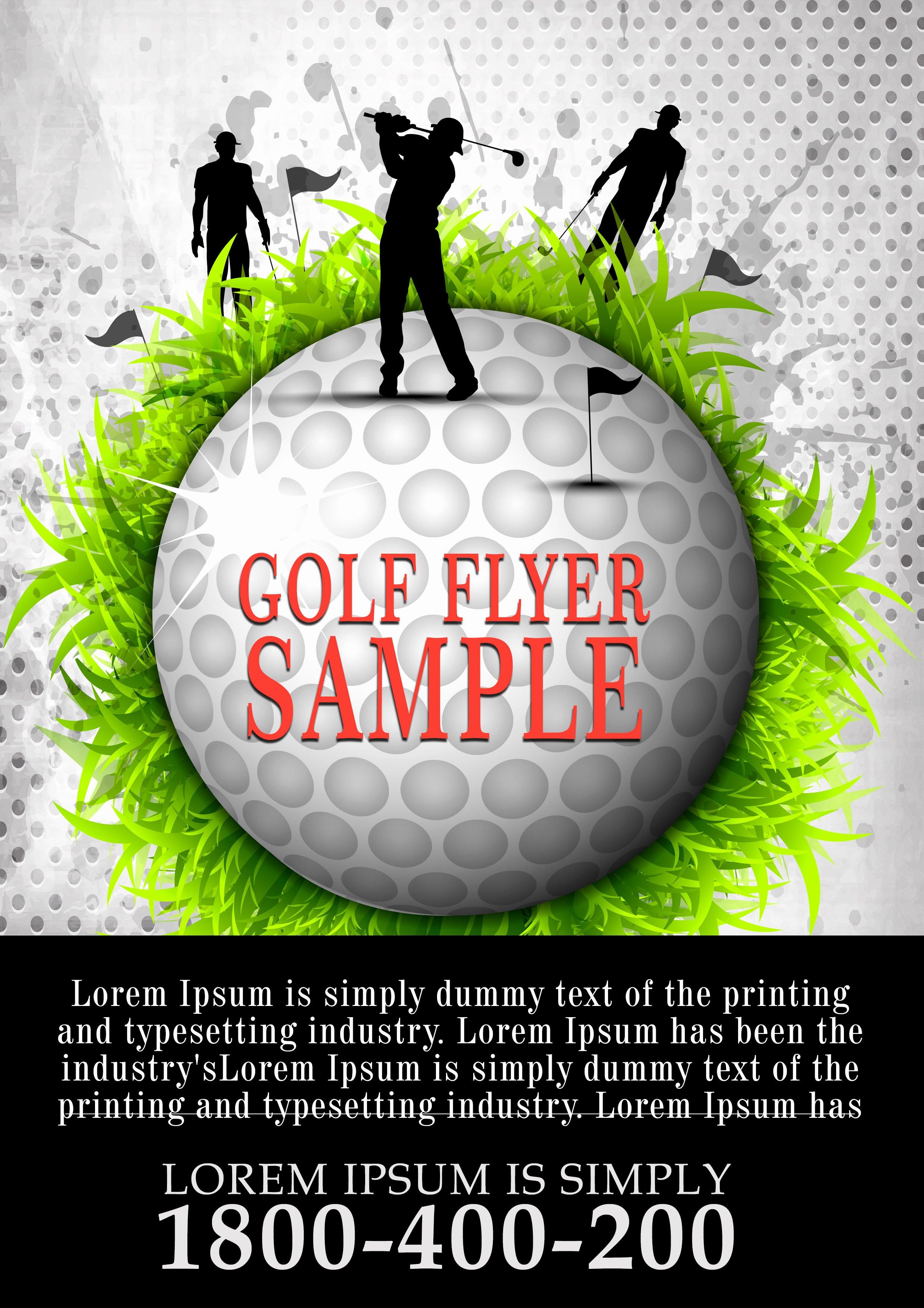 Golf tournament Flyer Template Unique 15 Free Golf tournament Flyer Templates Fundraiser