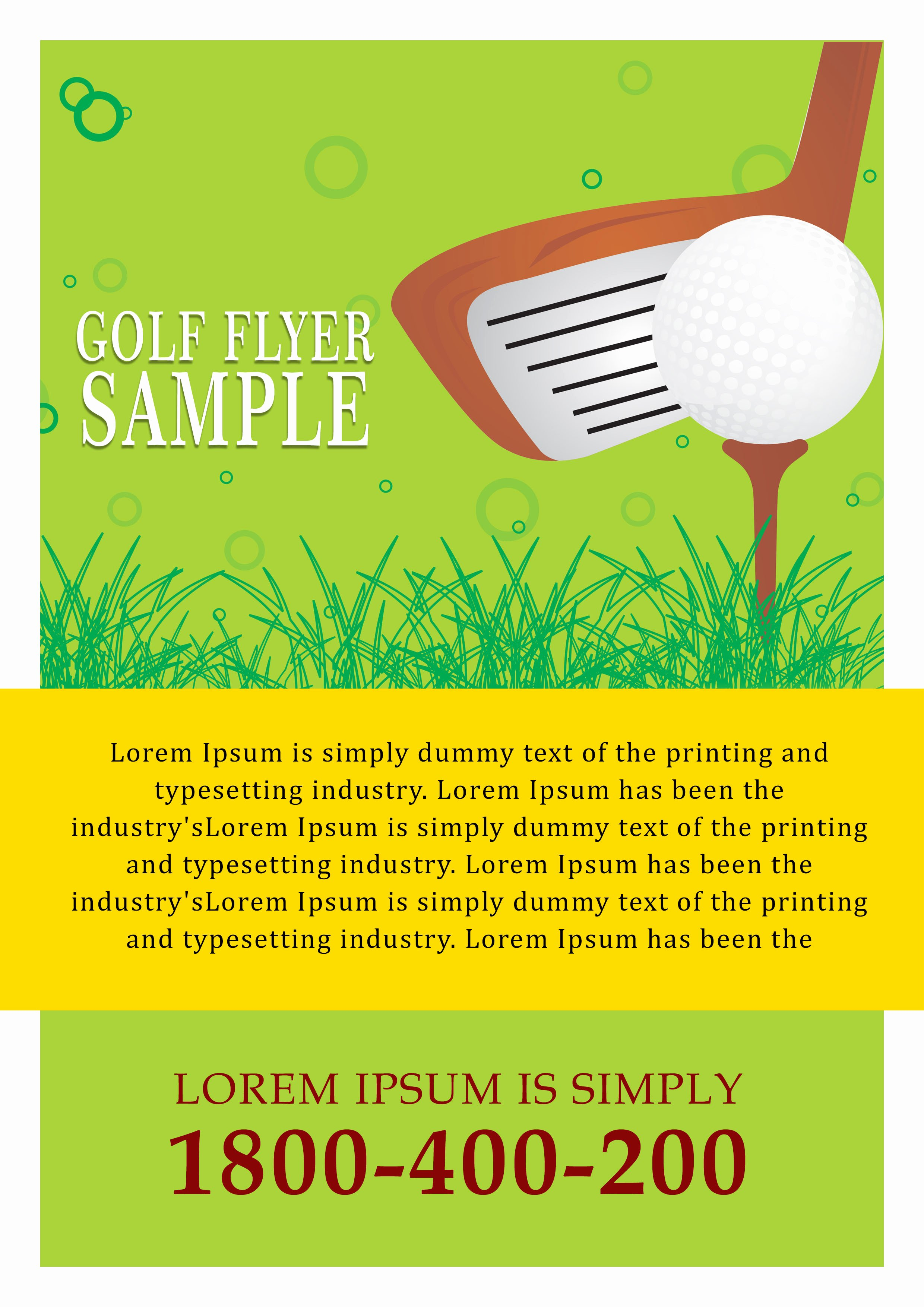 Golf tournament Flyers Template Elegant 15 Free Golf tournament Flyer Templates Fundraiser