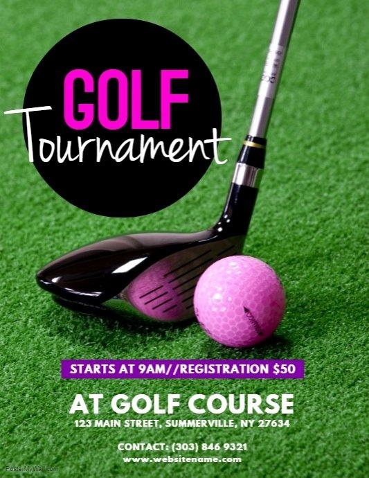 Golf tournament Flyers Template Fresh Golf tournament Flyer Template