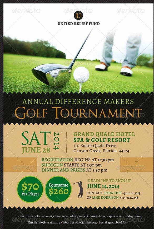Golf tournament Flyers Template Inspirational 36 Fundraiser Flyer Templates Psd Eps Ai Word