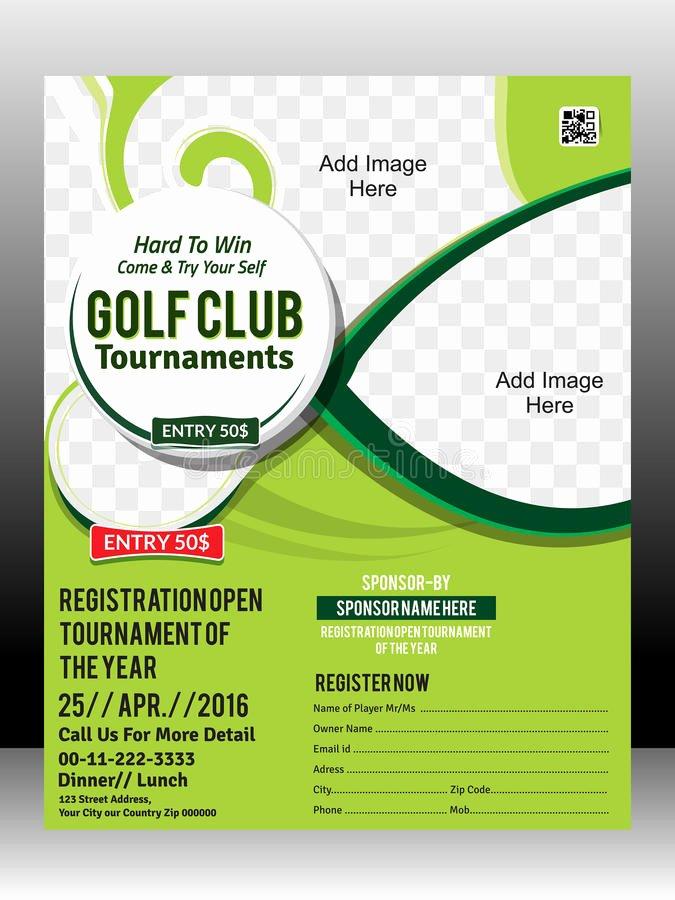 Golf tournament Flyers Template Inspirational Golf tournament Flyer Template Design Illustration Stock