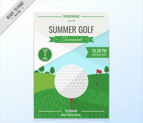 Golf tournament Flyers Template Lovely 29 event Poster Designs & Examples Psd Ai Eps Vector