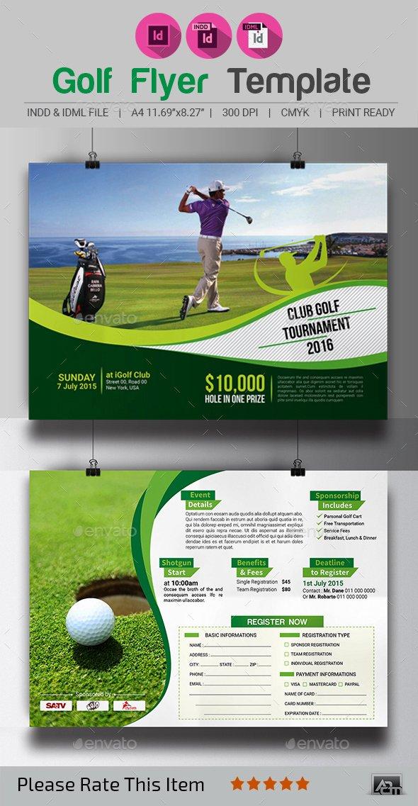 Golf tournament Flyers Template Lovely Golf tournament Flyer Template by Aam360