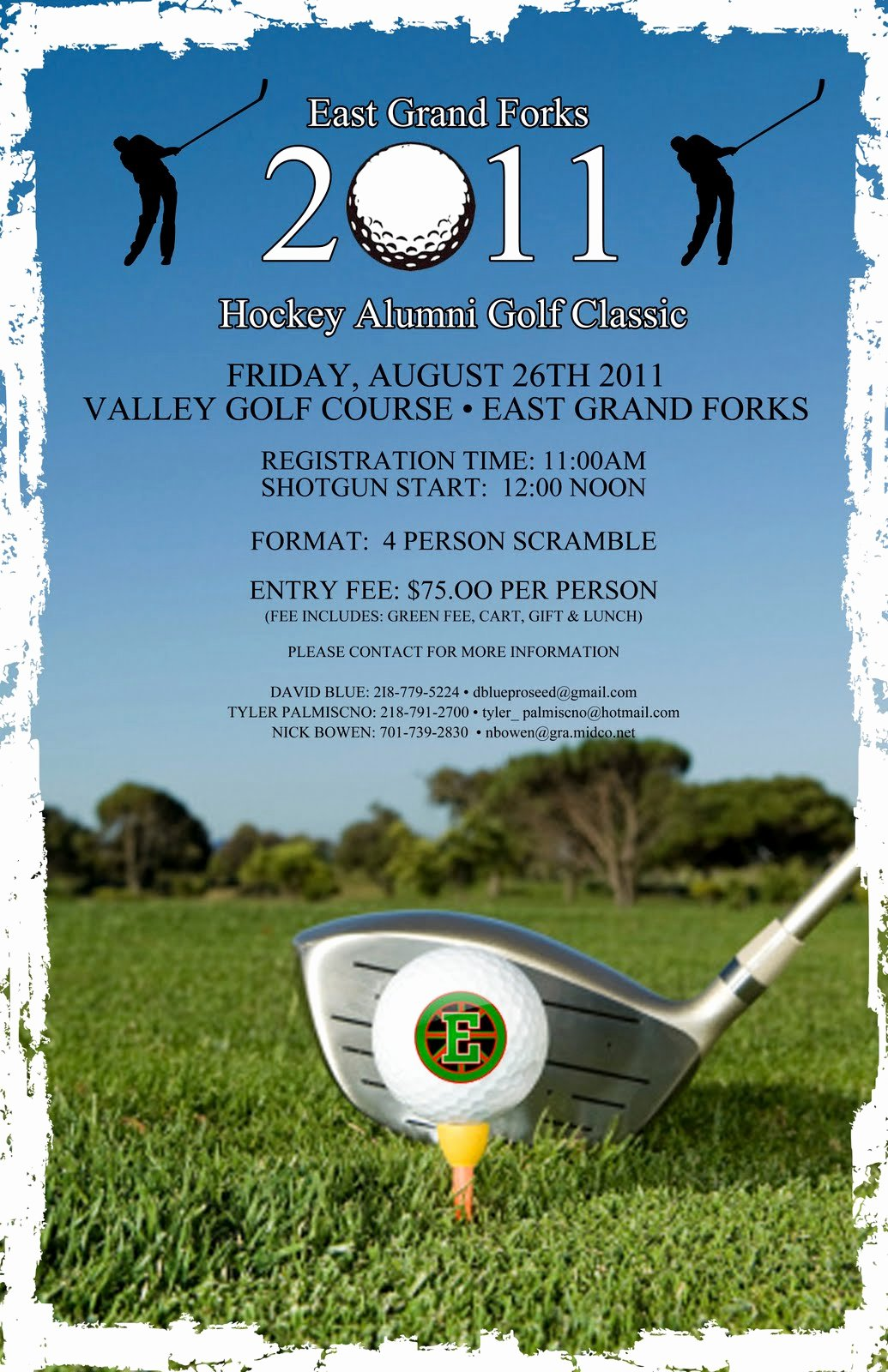 Golf tournament Flyers Template Luxury East Grand forks Greenwave Hockey Golf tournament