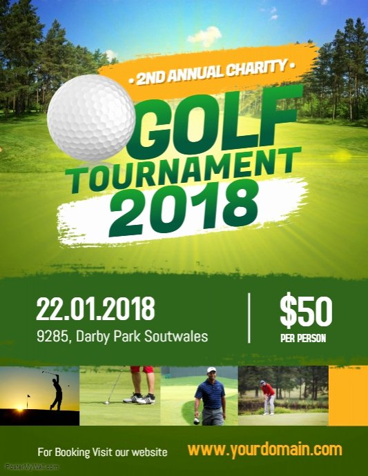 Golf tournament Flyers Template New Charity Golf tournament Flyer Poster Template