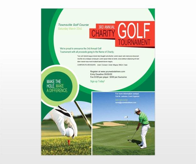 Golf tournament Flyers Template New Golf tournament & Golf Scramble Flyer Template