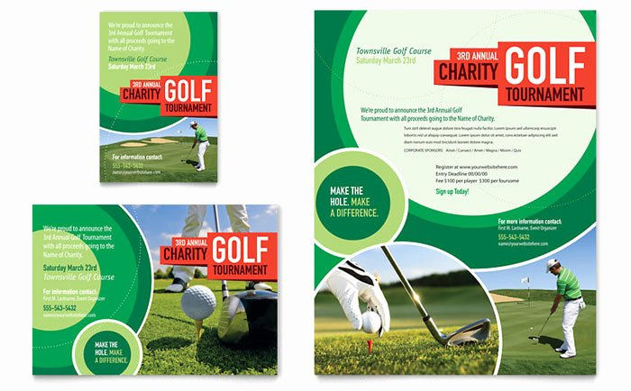 Golf tournament Flyers Template New Golf tournament Flyer & Ad Template Design