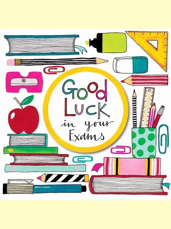 Good Luck Card Template Awesome 18 Best Exams Good Luck Images On Pinterest