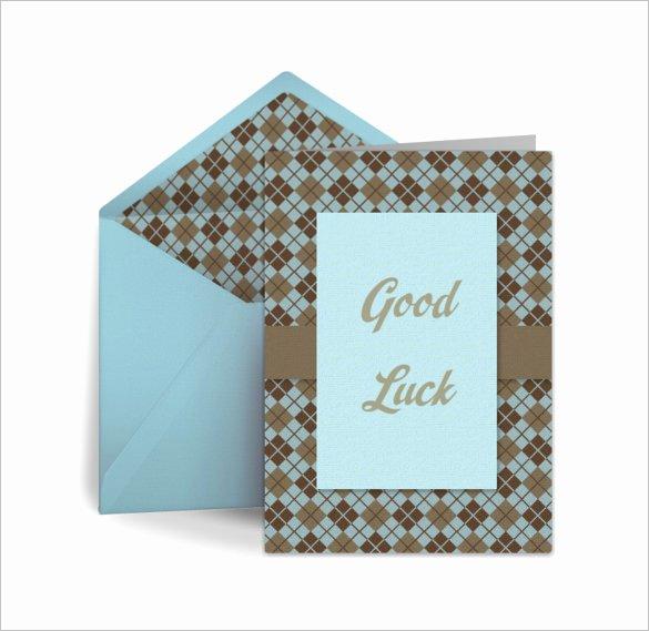 Good Luck Card Template Beautiful 18 Good Luck Card Templates Psd Ai Eps