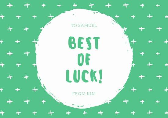 Good Luck Card Template Best Of Customize 19 Good Luck Card Templates Online Canva