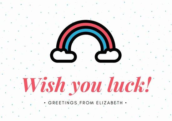 Good Luck Card Template Best Of Customize 386 Good Luck Card Templates Online Canva
