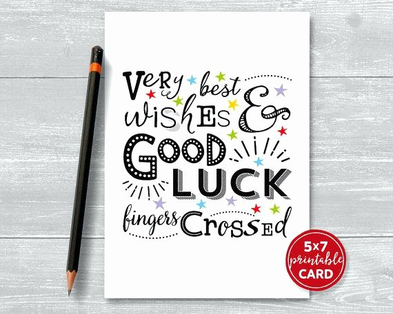 Good Luck Card Template Elegant Clover Good Luck Card Template Your New Job Occasions