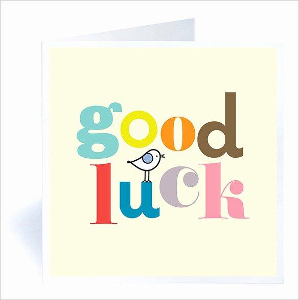 Good Luck Card Template Fresh 7 Good Luck Card Templates Psd Eps