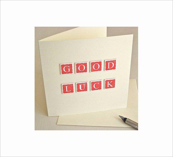 Good Luck Card Template Lovely 18 Good Luck Card Templates Psd Ai Eps