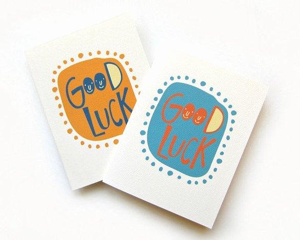 Good Luck Card Template Luxury 18 Good Luck Card Templates Psd Ai Eps