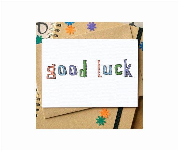 sample good luck card