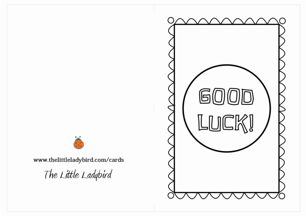 Good Luck Card Template Luxury Good Luck Printable Cards Vsmetalsgroup